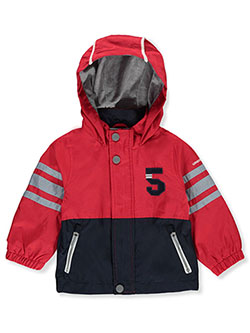Baby Boys' Hooded Jacket by London Fog in Red
