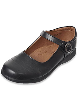 "School Rider Girls' ""Graphite"" Mary Janes (Youth Sizes 13 – 4) - CookiesKids.com"