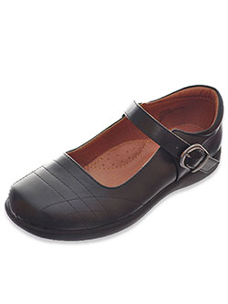 "School Rider Girls' ""Graphite"" Mary Janes (Youth Sizes 5 – 10) - CookiesKids.com"