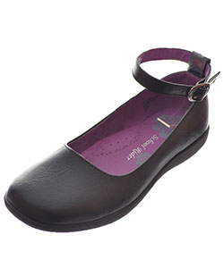 "Girls' ""Audrey"" Mary Janes by School Rider in Black"