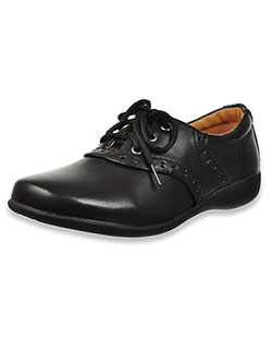 Girls' Lace-Up School Shoes by School Rider in Black