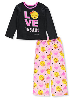 Girls' 2-Piece Pajamas by Emoji in Black/multi