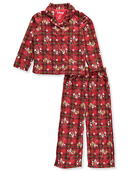 Minnie Mouse Girls' 2-Piece Pajamas by Disney in Red/multi