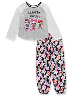 Girls' Born to Rock 2-Piece Pajamas by LOL Surprise in Gray/multi