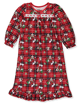 Minnie Mouse Girls' Plaid Gifts Nightgown by Disney in Multi, Girls Fashion