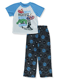 Boys' Earth's Mightiest 2-Piece Pajamas by Avengers in Blue