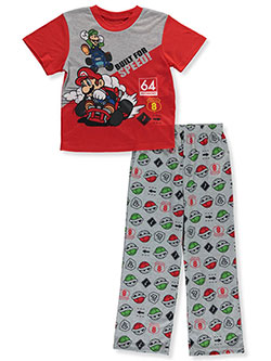 Boys' Build for Speed 2-Piece Pajamas by Mariokart in Gray/red