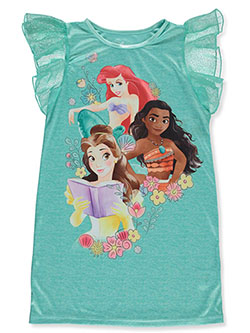 Girls' Trio Nightgown by Disney Princess in Aqua/multi