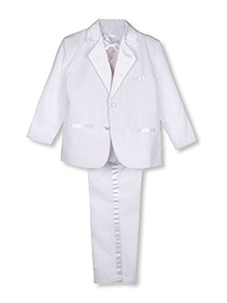 Kaifer Big Boys' 5-Piece Tuxedo by Pretty Me in White