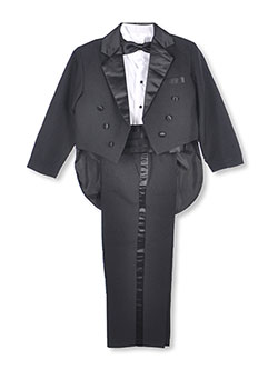 Kaifer Little Boys' 5-Piece Tuxedo with Tails (Sizes 4 - 7) - CookiesKids.com