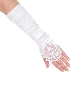 Mitts by The Communion Collection in White - Accessories