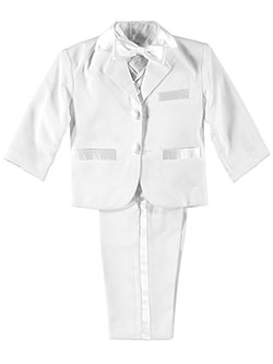 Baby Boys' 5-Piece Tuxedo by Kaifer in White