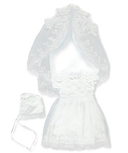Baby Girls' 3-Piece Set by The Christening Collection in White