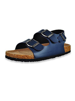 Boys' Buckle Sandals by Mario Lopez in Navy, Shoes