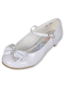 "Angels Girls' ""Jewel-Dipped Bow"" Mini Pumps (Toddler Sizes 9 – 12) - CookiesKids.com"