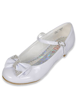 "Angels Girls' ""Jewel-Dipped Bow"" Mini Pumps (Youth Sizes 13 – 5) - CookiesKids.com"