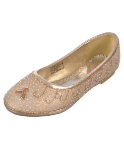 "Angels Girls' ""Glittering Pearls"" Flats (Youth Sizes 13 – 5) - CookiesKids.com"