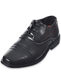 Boys' Triple Stitch Dress Shoes by Jodano Collection in black and white