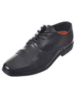 "Jodano Collection Boys' ""Triple Stitch"" Dress Shoes (Youth Sizes 5 – 8) - CookiesKids.com"
