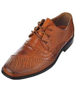 "Jodano Collection Boys' ""Croc Worsted"" Dress Shoes (Youth Sizes 13 – 4) - CookiesKids.com"