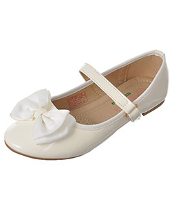 "Angel Girls' ""Grosgrain Bow"" Flats (Youth Sizes 13 – 4) - CookiesKids.com"