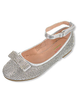 "Angel Girls' ""Allover Gems"" Flats by Angels in Silver"