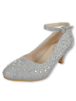 "Girls' ""Mixed Gem"" Pumps by Angels in Silver - Dress Shoes"