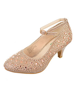 "Angels Girls' ""Mixed Gem"" Pumps (Youth Sizes 13 – 5) - CookiesKids.com"