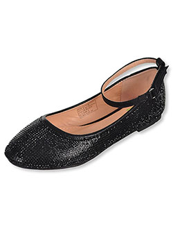 Girls' Flats by Angels in black and silver
