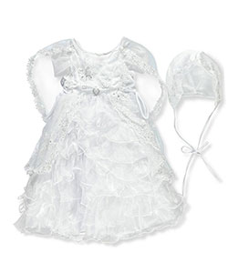 3-Piece Christening Outfit by Angels the Couture in White, Infants