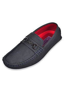 Boys' Driving Loafers by Jodano Collection in Gray