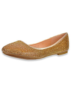 Girls' Angels Flats by Valbella in champagne, silver and white - Dress Shoes