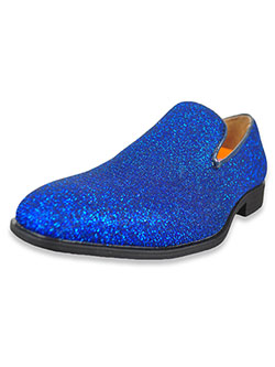 Boys' Glitter Loafers by Jodano Collection in black, blue, silver and more