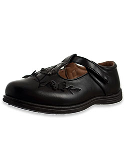 Butterfly Flight T-Strap School Shoes by Angels in Black