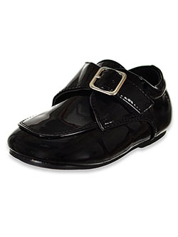 Baby Boys' Patent Buckled Dress Shoes by Jodano in black and white