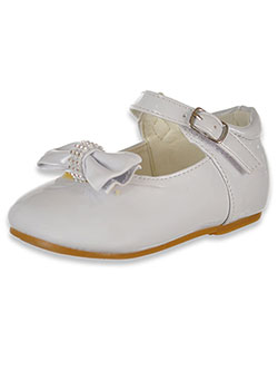 Girls' Bejeweled Bow Mary Jane Shoes by Angels in White, Infants