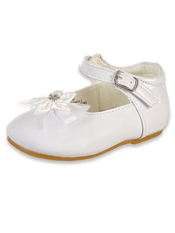 Bejeweled Satin Burst Mary Jane Shoes by Angels in White, Infants