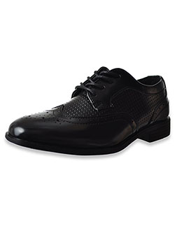 Boys' Wingtip Dress Shoes by Jodano Collection in black and tan - Dress Shoes