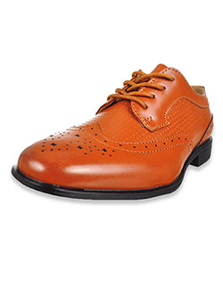 Boys' Wingtip Dress Shoes by Jodano Collection in black and tan