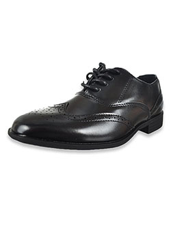 Boys' Lace Up Dress Shoes by Jodano Collection in Black - Dress Shoes