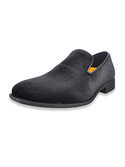 Boys' Velvet Loafers by Jodano Collection in black and navy - Dress Shoes