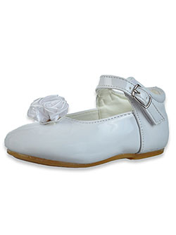 Patent Leather Dress Shoes by Angels New York in White, Infants