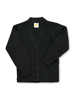 Unisex Cardigan by A+ in black and navy, Sizes 2T-4T & 4-7