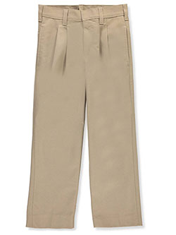 Boys' Pleated Uniform Pants by A+ in Khaki, Sizes 8-20