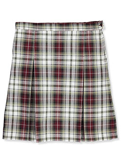 Girls' Pleated School Uninform Skirt by A+ in Plaid #99, Sizes 7-20