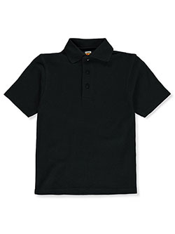 Unisex Pique Knit Polo by A+ in black, blue, yellow and more - $21.00
