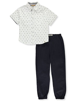 Abstract 2-Piece Joggers Set Outfit by Free Planet in Navy