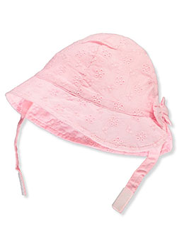 Eyelet Bucket Sun Hat by Astor Accessories in Pink