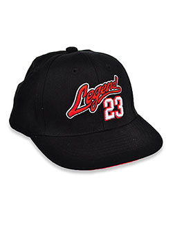 Legend Script Baseball Cap by Astor Accessories in Black