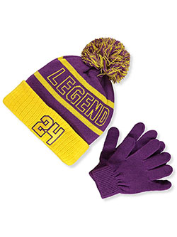 Boys' Legend Beanie & Gloves Set by Astor Accessories in Multi